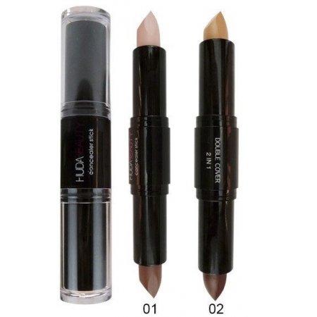 Консиллер для лица Huda Beauty Double Cover all moisturizing 01