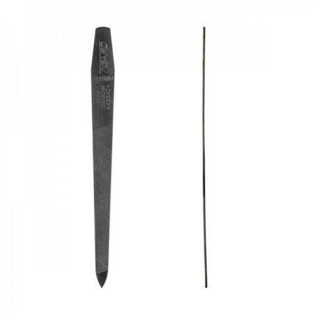 Пилка для ногтей Zinger, железная, на планшете, в желтом пакете, маленькая