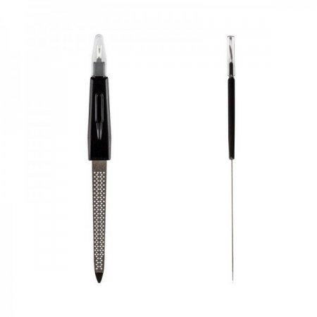 Пилка для ногтей с триммером для удаления кутикулы, перфорированная, маленькая