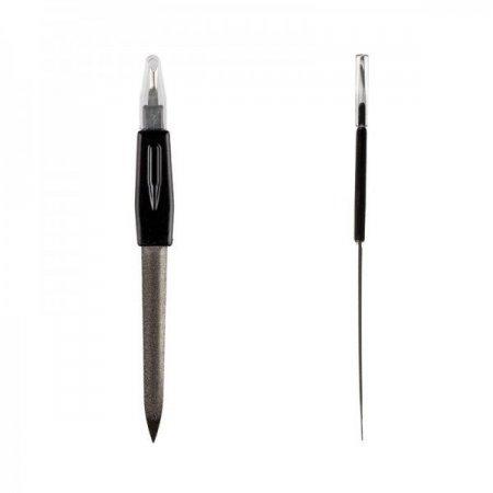 Пилка для ногтей с триммером и выемкой, маленькая