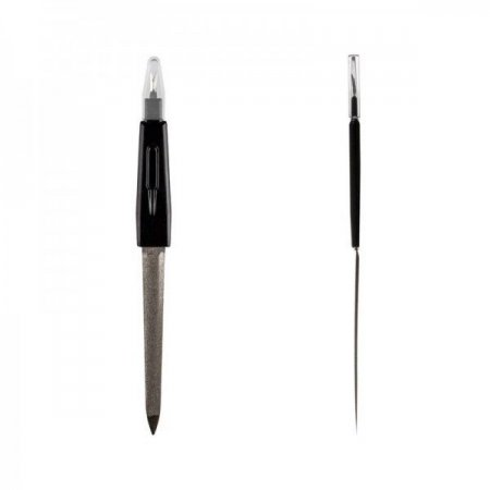 Пилка для ногтей с триммером и выемкой, средняя