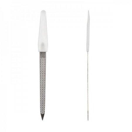 Пилка для ногтей с белой ручкой, перфорированная, большая