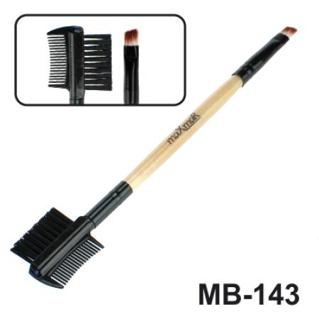 Кисть для жидких помад, консилеров, кремообразных теней и моделиров. ресниц и бровей maXmaR MB-143