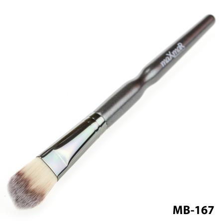 Кисть для тональной основы, теней и румян maXmaR MB-167