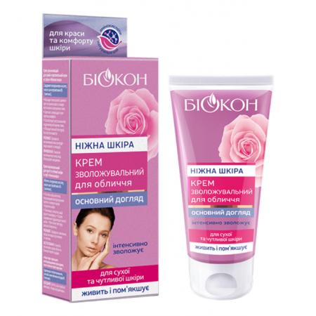 Крем увлажняющий для лица Биокон для сухой и чувствительной кожи Нежная кожа, 60мл