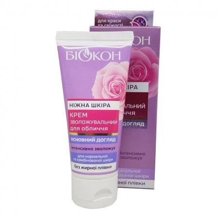 Крем увлажняющий для лица Биокон для нормальной и комбинированной кожи Нежная кожа, 60мл