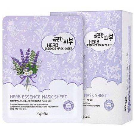 Маска тканевая c травами Esfolio Pure Skin Herb Essence Mask Sheet фото