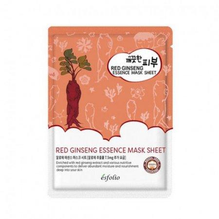 Маска тканевая c красным женьшенем Esfolio Pure Skin Red Ginseng Essence Mask Sheet фото