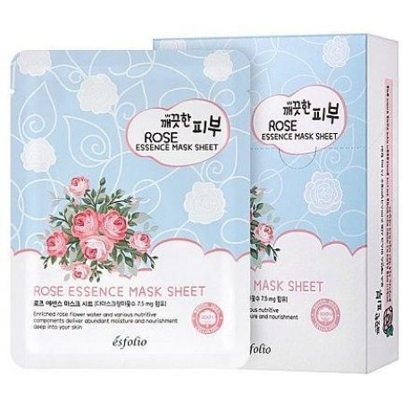 Маска тканевая c розой Esfolio Pure Skin Rose Essence Mask Sheet