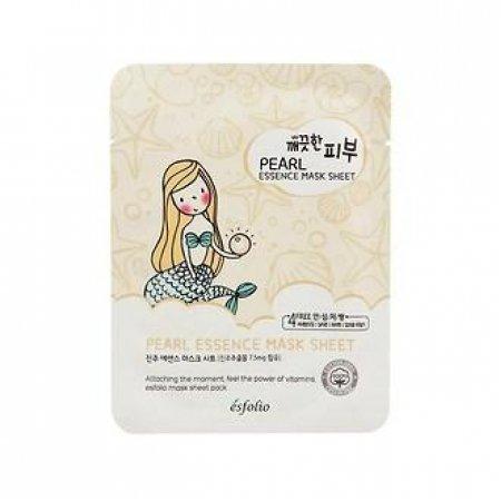 Маска тканевая c жемчугом Esfolio Pure Skin Pearl Essence Mask Sheet
