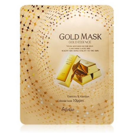 Маска тканевая c золотом Esfolio Gold Essence Mask Sheet