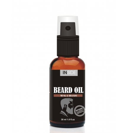 Масло для бороды с феромонами Inside Beard Oil Musk and Brandy