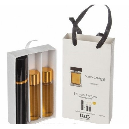 Dolce Gabbana The One for Men edt 3x15ml - Trio Bag