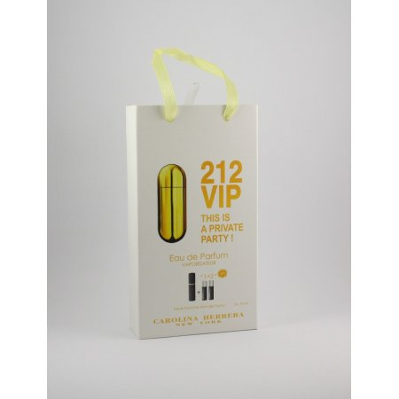 Carolina Herrera 212 Vip edt 3x15ml - Trio Bag