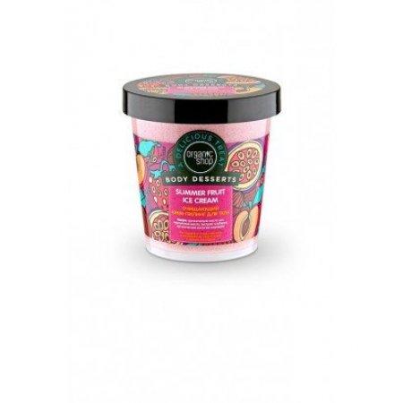 Крем-пилинг для тела Очищающий Summer Fruit Ice Cream ORGANIC SHOP Body Desserts, 450мл