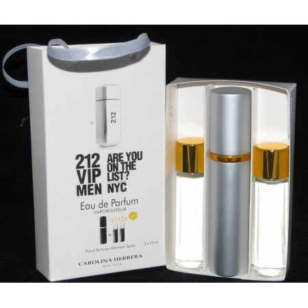 Carolina Herrera 212 VIP Man edp 3x15ml - Trio Bag