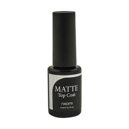 Верхнее покрытие для гель-лака матовое Naomi Gel Matte Top Coat 6ml
