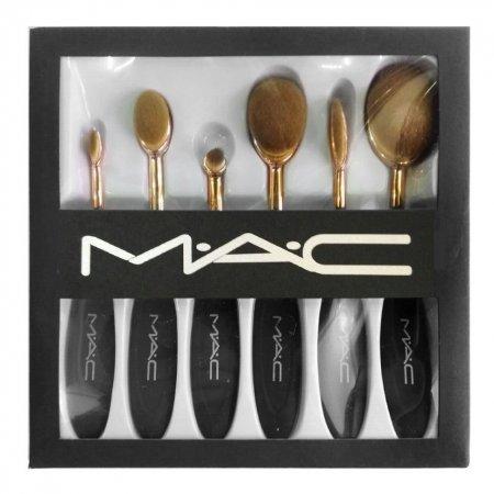 Набор кистей для корректирующих средств золотые MAC (6 шт.)