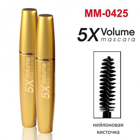Тушь для ресниц  Gold Mascara Volume 5 X объемная maXmaR MM-0425