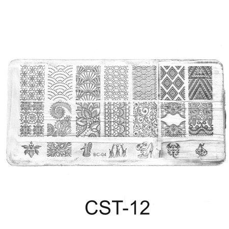 CST-12 Трафарет (диск) для стемпинга (уп,12шт)