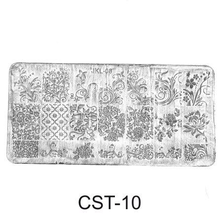 CST-10 Трафарет (диск) для стемпинга (уп,12шт)
