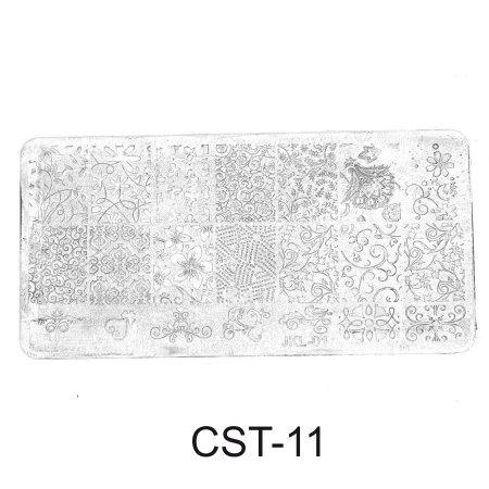 CST-11 Трафарет (диск) для стемпинга (уп,12шт)