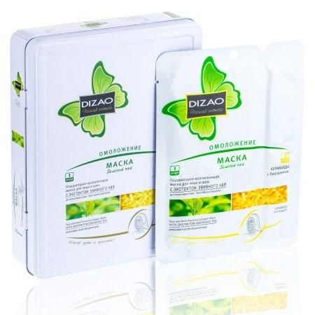 CMD-01 Маска для лица Dizao (омолаживающая) Зеленый чай
