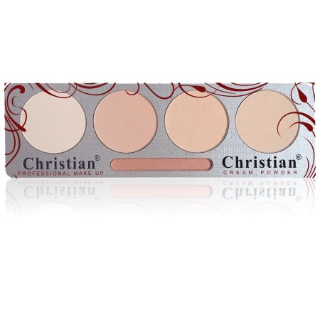 Палетка крем- пудры для лица Christian № 02 P-4