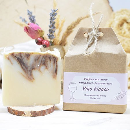 Крафтовое мыло Vino bianco