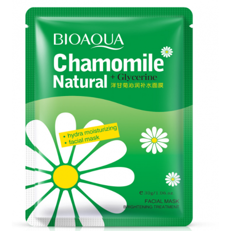 Тканевая увлажняющая маска для лица Bioaqua Chamomile с ромашкой 30 г