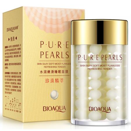 Крем для лица Bioaqua Pure Pearls с жемчужной пудрой 120 мл