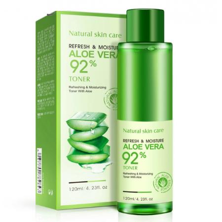 Увлажняющий восстанавливающий тонер для лица Bioaqua Refresh&Moisture Aloe Vera 92% 120 г