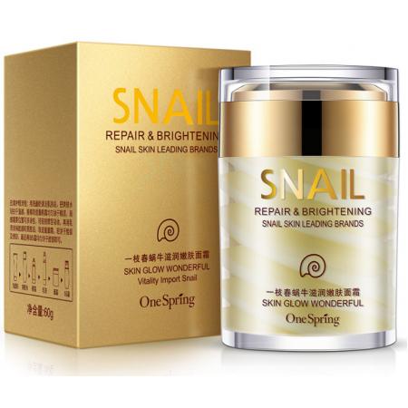 Крем для лица One Spring Snail Cream с фильтратом улитки 60 г