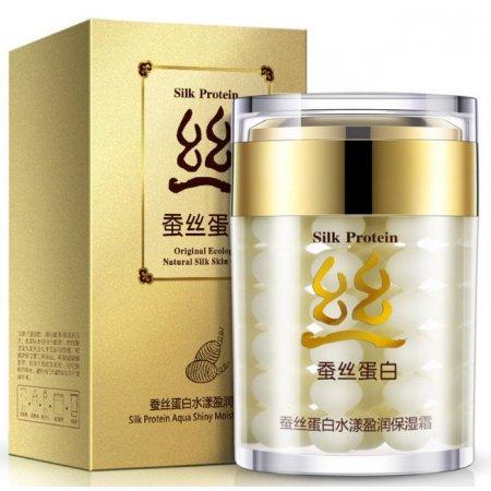 Крем для лица Bioaqua Silk Protein Глубокоувлажняющий восстанавливающий  с протеинами шелка 60 г