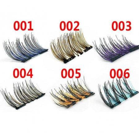Цветные ресницы на 2 магнита. Уголки