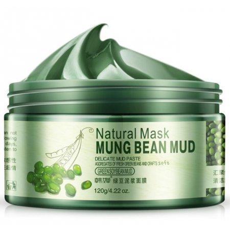 Очищающая маска для лица Bioaqua на основе зеленых бобов Маш, витамина Е и вулканической грязи 120 г