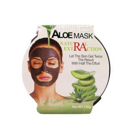 Очищающая маска для лица Qiansoto с экстрактами алое, зеленого чая и мелиссы Natural Extraction 150 г