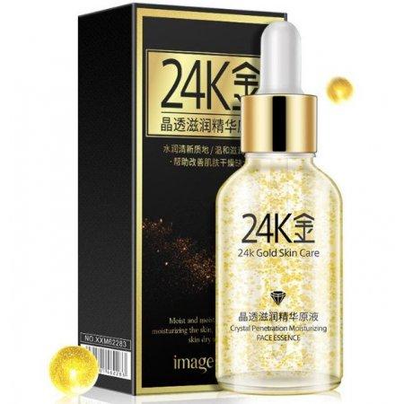 Эссенция для лица Images Gold Skin Care с 24К золотом и гиалуроновой кислотой 30 мл