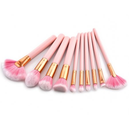 Кисти для макияжа make-up brushes Pink Cloud. Набор из 10 шт.