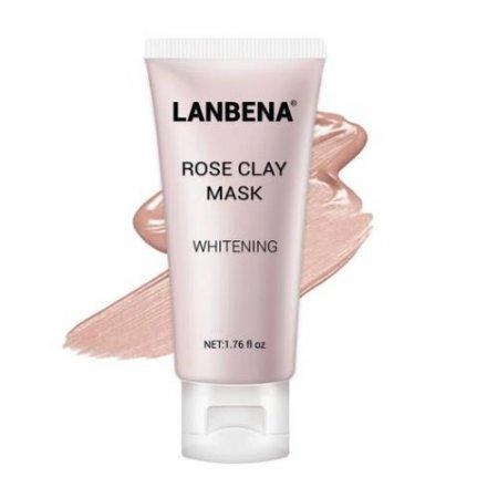 Маска для лица Lanbena Rose Clay Face Mask отбеливающая 50 г