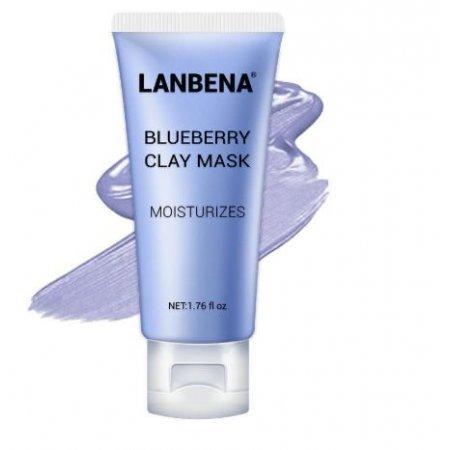 Маска для лица Lanbena Blueberry Clay Face Mask увлажняющая с Anti-Aging эффектом 50 г