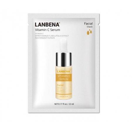 Маска для лица тканевая LANBENA Vitamin C Serum осветляющая  22мл