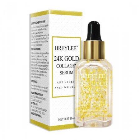 Омолаживающая эссенция для лица BREYLEE 24k Gold Serum Collagen Essence с 24К золотом и коллагеном 15 мл