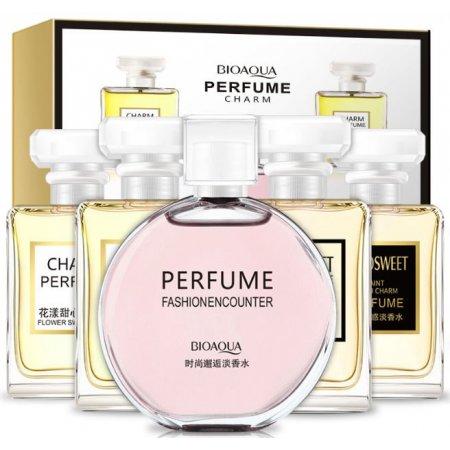Подарочный набор парфюмов BIOAQUA Perfume Charm с цветочными и фруктовыми ароматами 5шт
