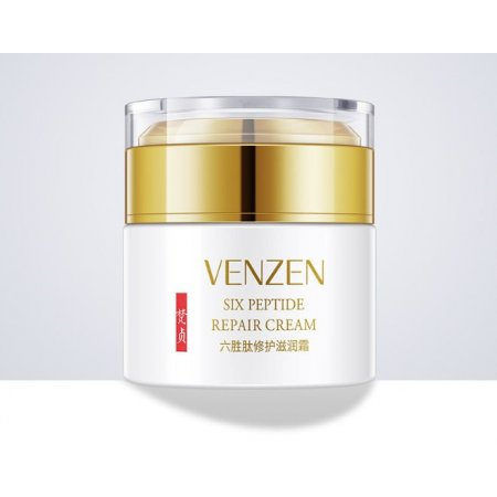 Разглаживающий крем для лица  Venzen Six Peptide Repair Cream с шестью пептидами и витамином Е 50 мл