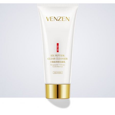 Очищающая пенка для умывания  Venzen Six Peptide Clear Cleanser с шестью пептидами 100 мл