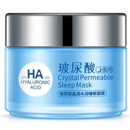 Ночная маска для лица ONE SPRING HYALURONIC ACID Crystal Permeable Mask с гиалуроновой  кистотой, маслом жожоба и экстрактом лотоса 100 гр