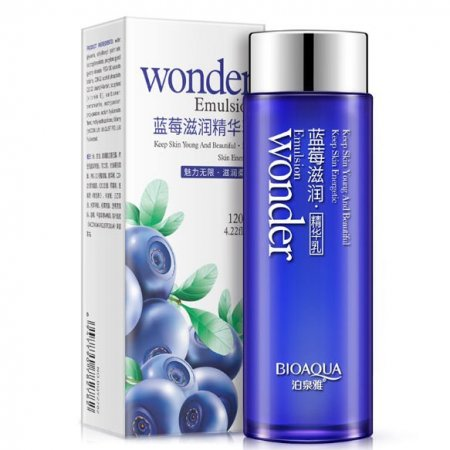 Восстанавливающая  эмульсия для лица Bioaqua Wonder Emulsion с экстрактом черники 120 мл