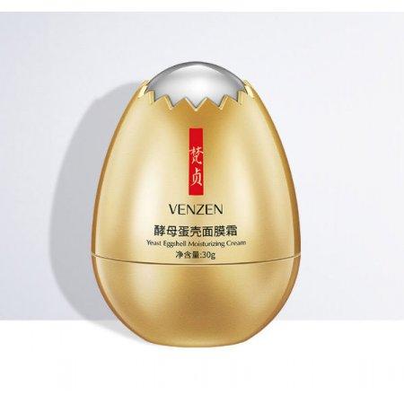 Крем для лица VENZEN YEAST EGGSHELL MOISTURIZING CREAM с экстрактом гидролизованой мембраны яичной скорлупы30 гр