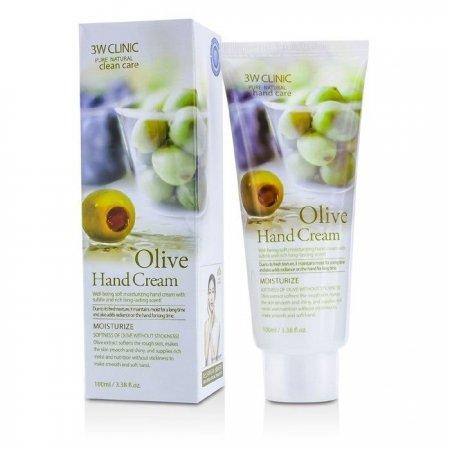 Крем для рук 3W Clinic Olive Hand Cream с экстрактом Оливы 100 мл
